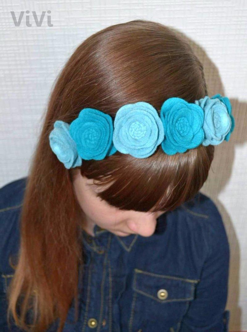 Как сделать цветок на голову фото