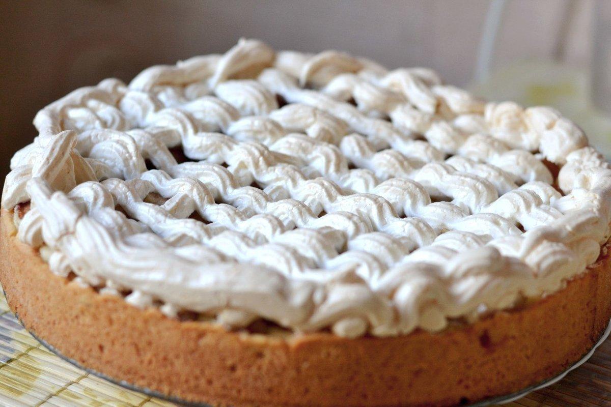 Пирог с безе пошаговый рецепт с фото