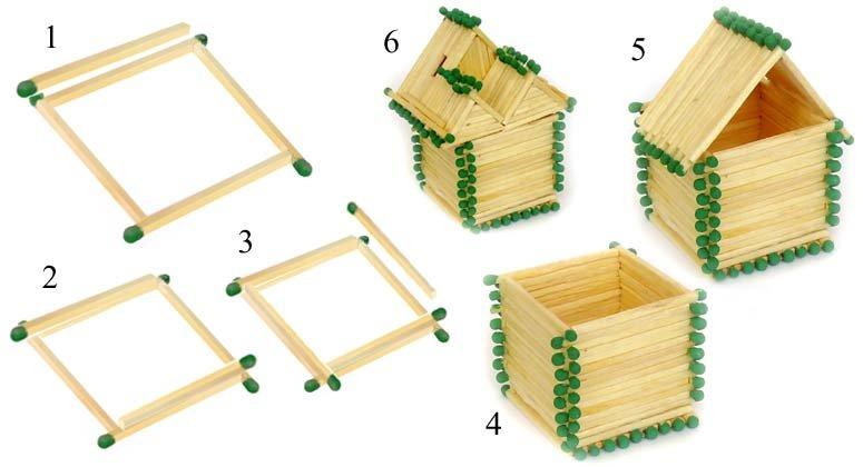 Как своими руками сделать домик из спичек 571