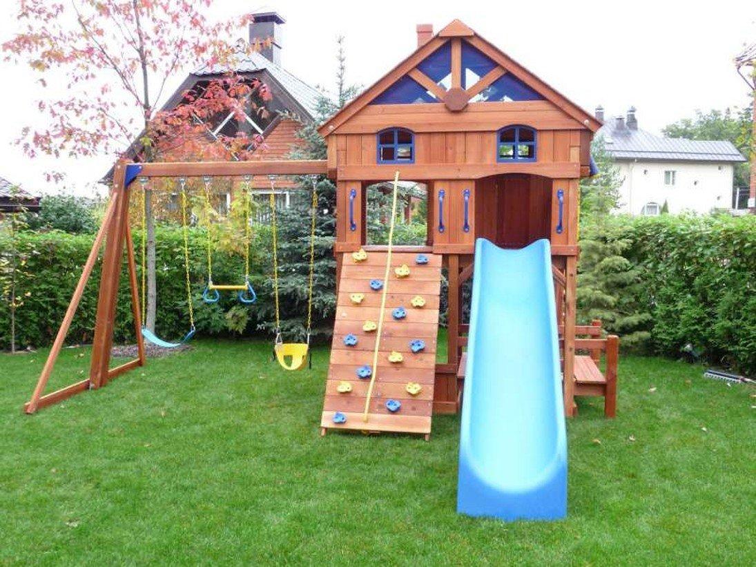 Домики и детские площадки своими руками фото