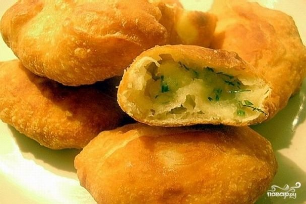 Пирожки на воде в духовке рецепт с фото пошагово