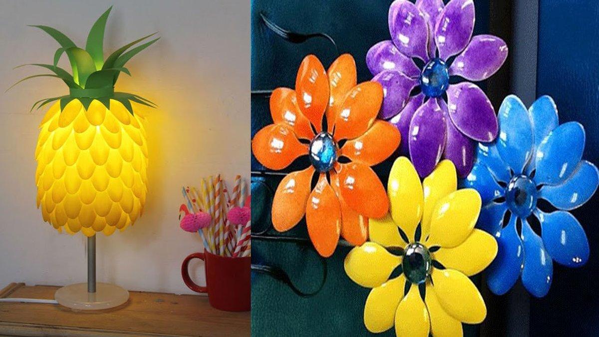 Цветы поделка из подручных материалов 52