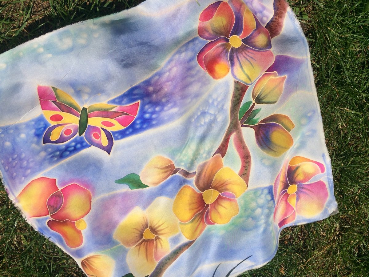 Роспись по ткани своими руками батик