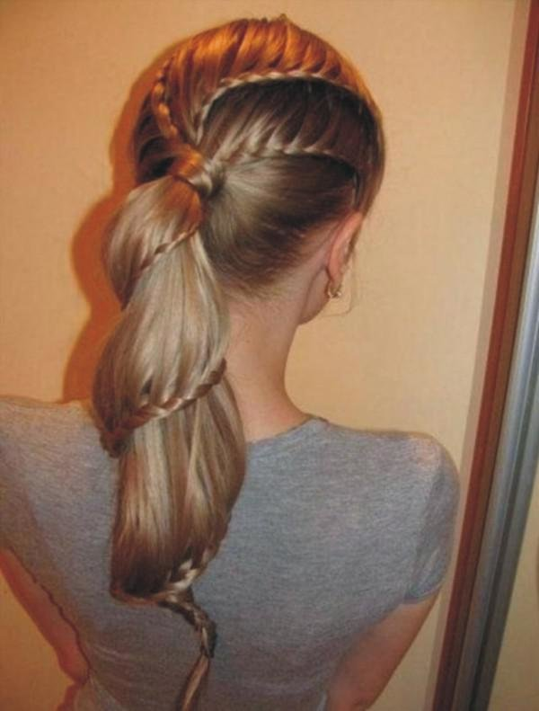 Причёски из косичек и хвостиков девочками