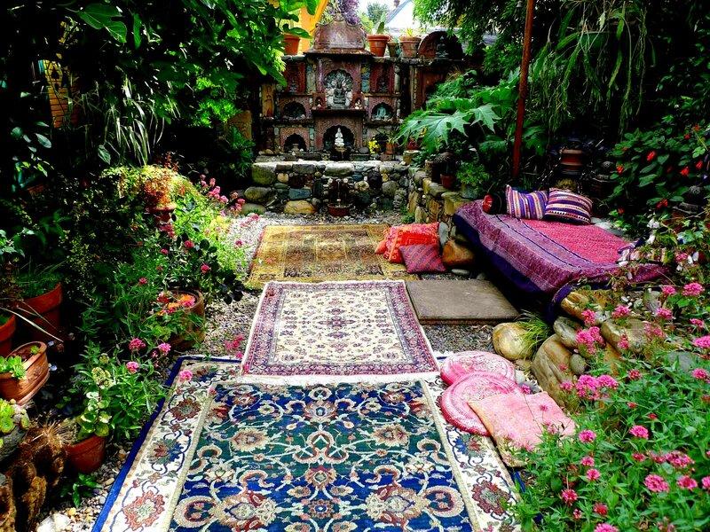 Фото дизайн по восточному в саду
