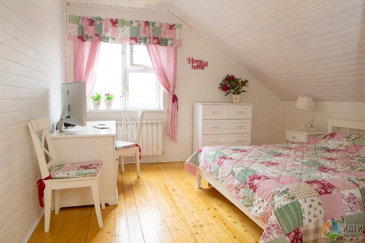 Интерьер спальни на даче в стиле