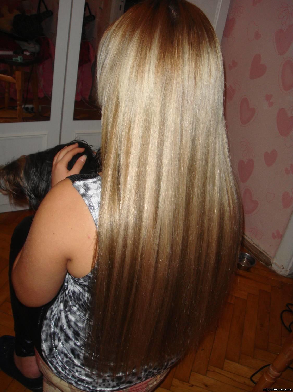 Частое мелирование на темно русых волосах