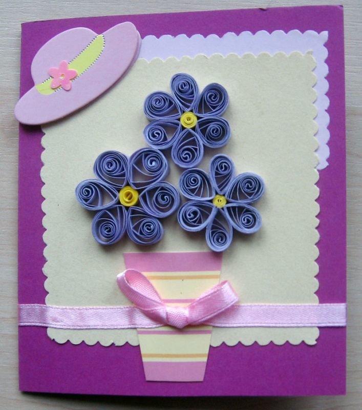 Квиллинг открытки на день рождения как сделать
