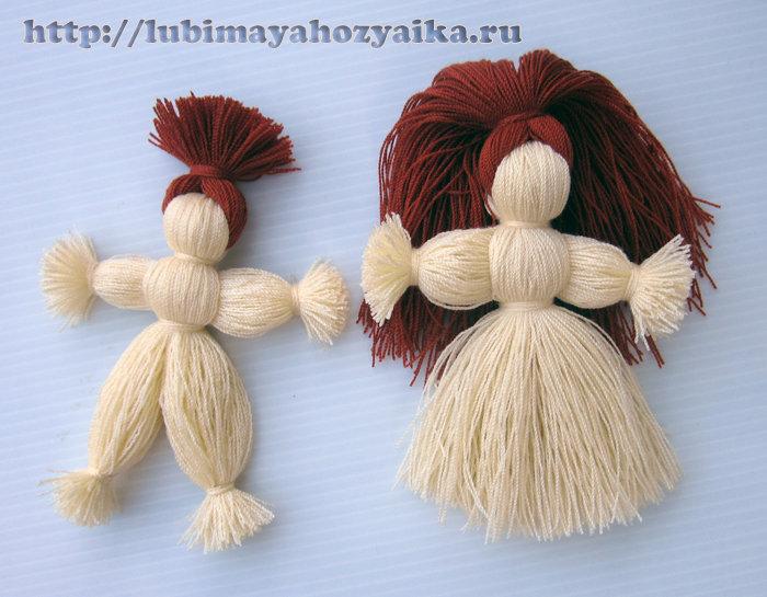 Куклы из ниток своими руками пошаговая 417