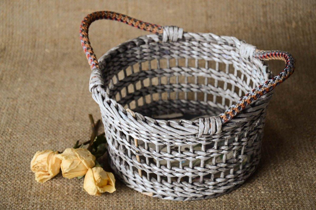 Плетение из газетных трубочек для начинающих - пошаговый мастер-класс 58