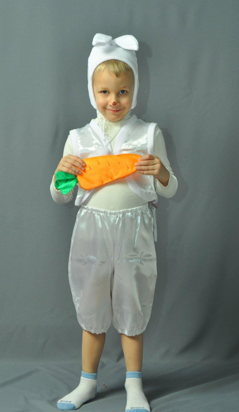 Костюм зайца для мальчика сделанный своими руками