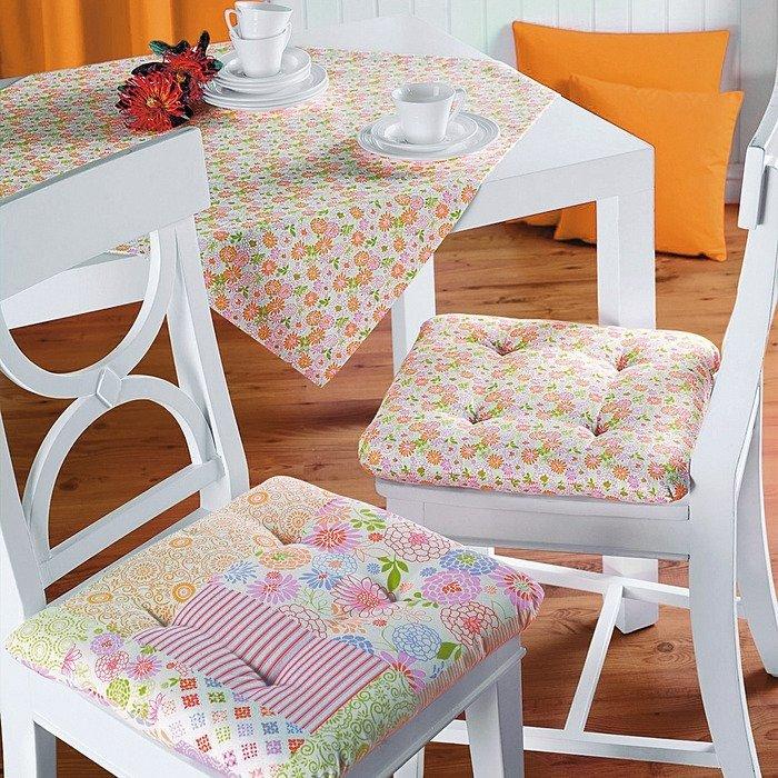 Простые подушки на стул своими руками