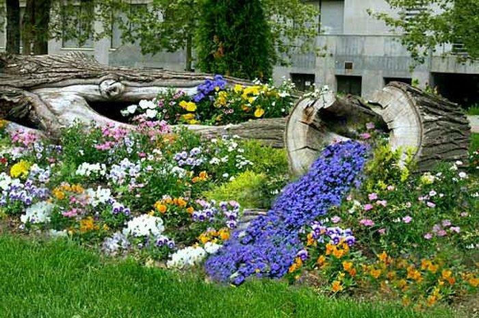 Фото ручей из цветов своими руками