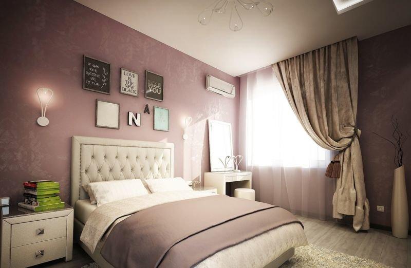 Интерьеры спальни в лавандовых тонах 15 кв м фото
