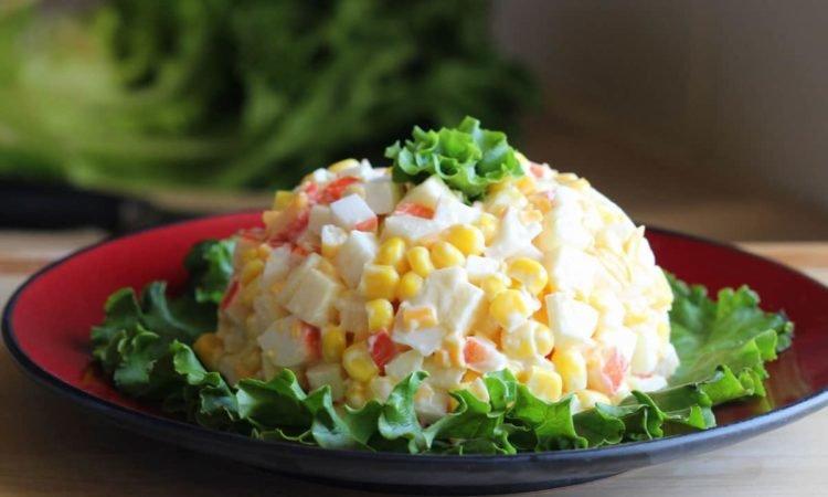 Крабовые салаты рецепты с
