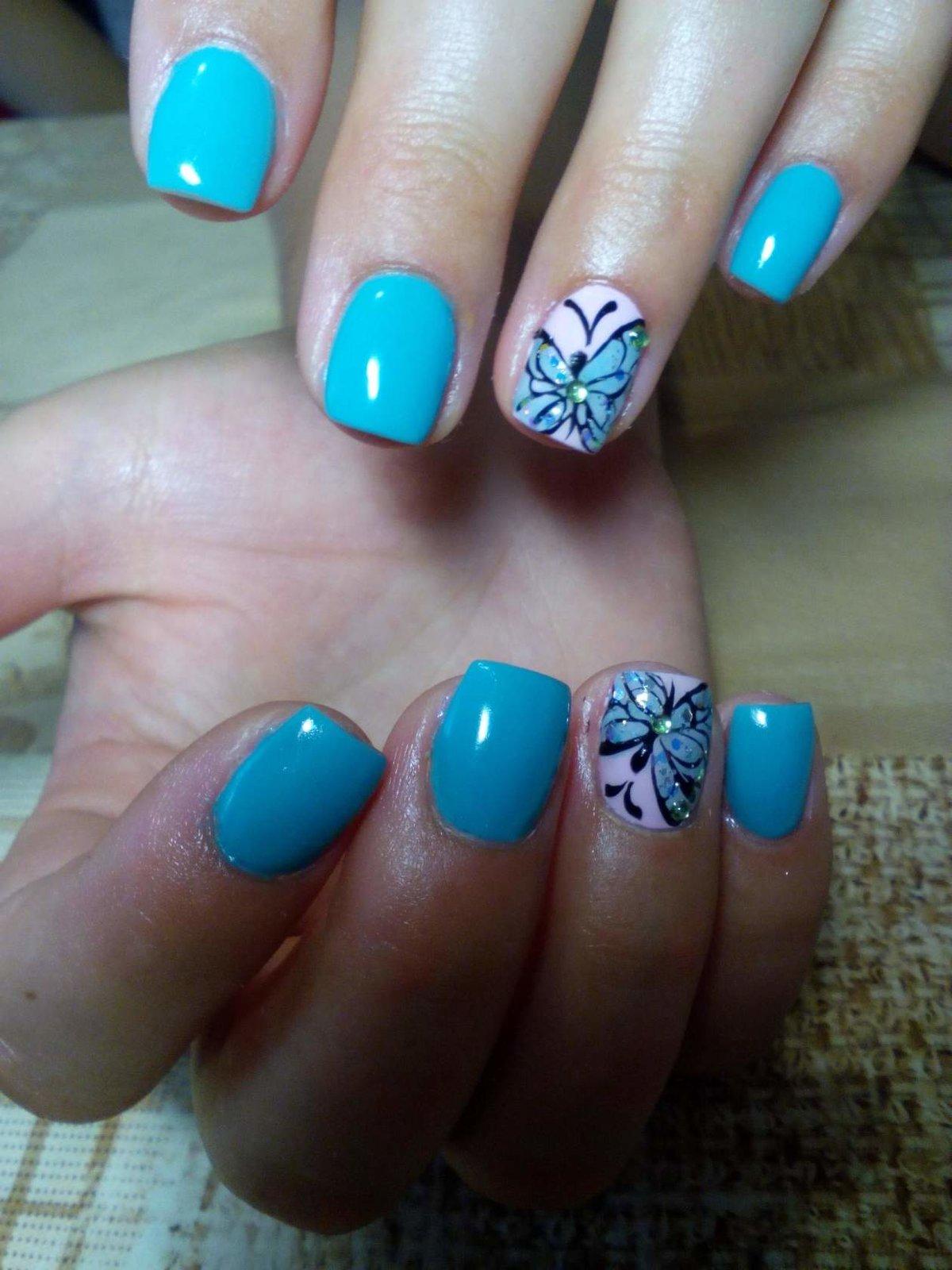 Идеи шеллака на ногтях на короткие ногти дизайн