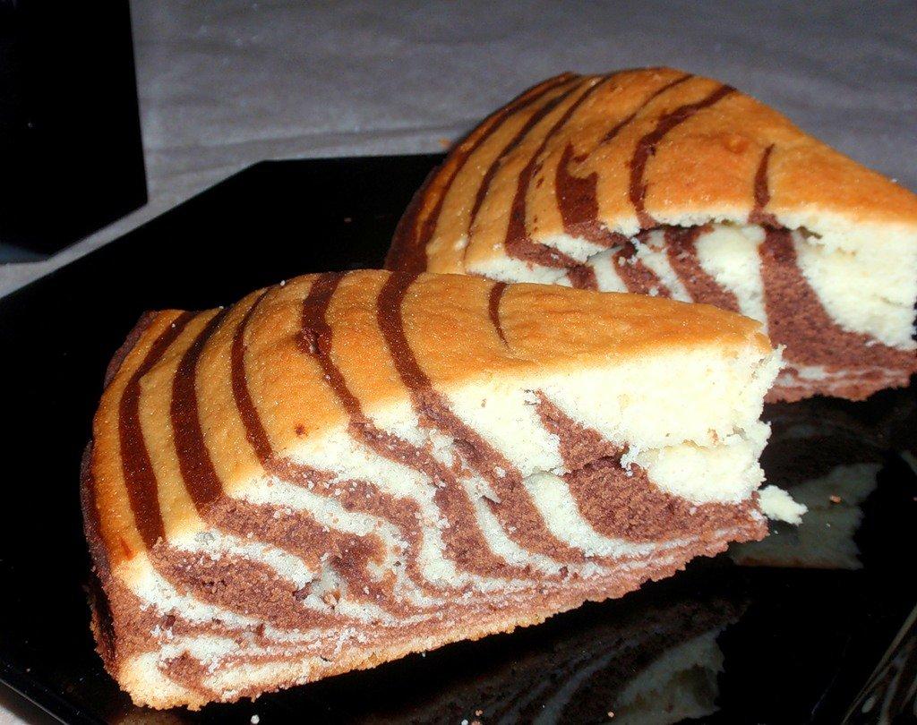 Как сделать пирог зебра