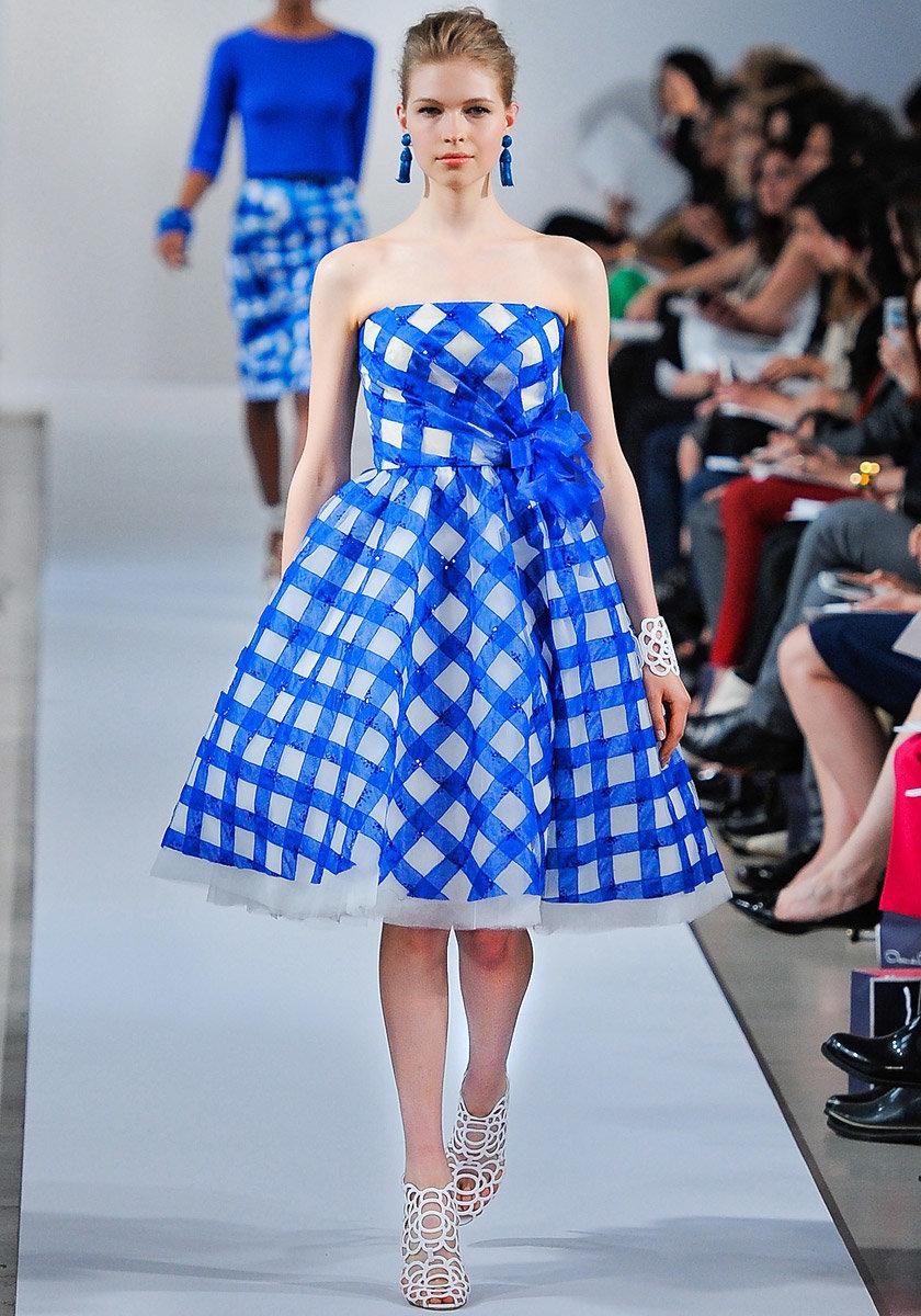 Платья в клетку мода фото