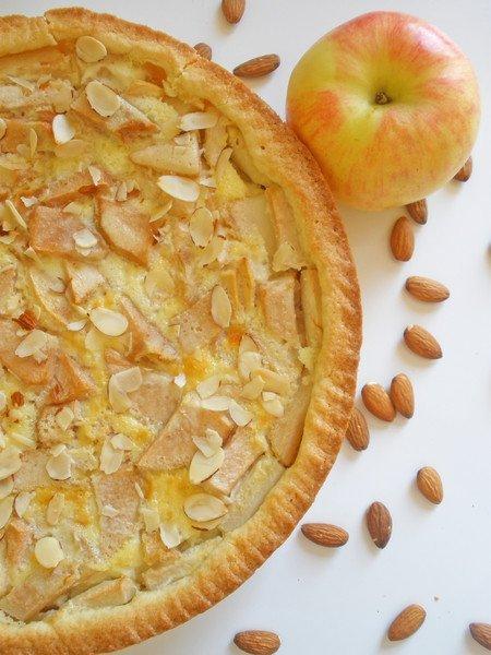 Яблочный пирог песочное тесто фото