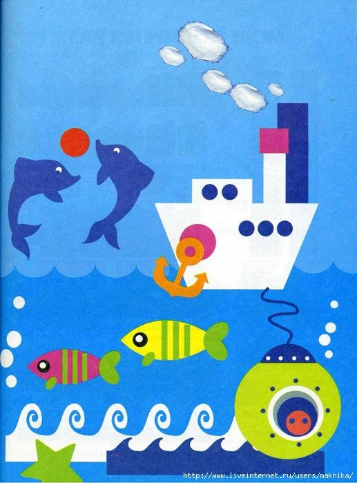 Поделка из бумаги на морскую тему 59
