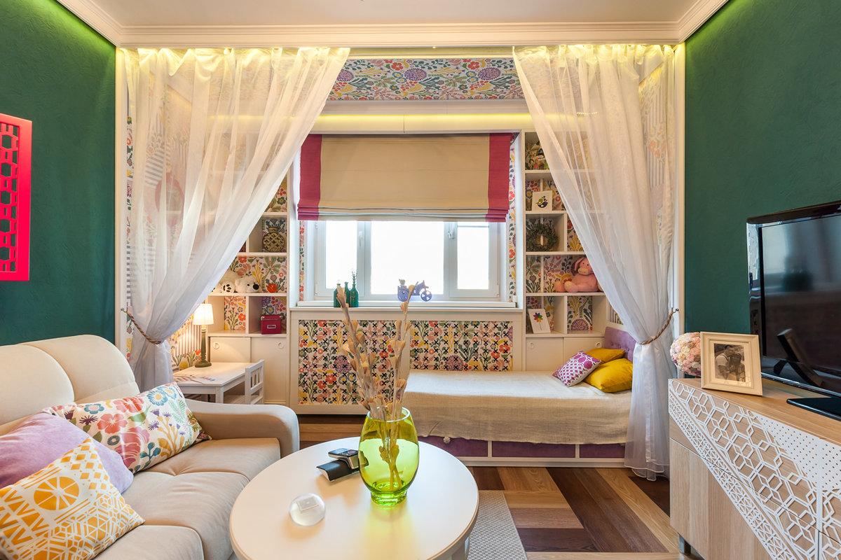 Интерьер комнаты для родителей с двумя детьми