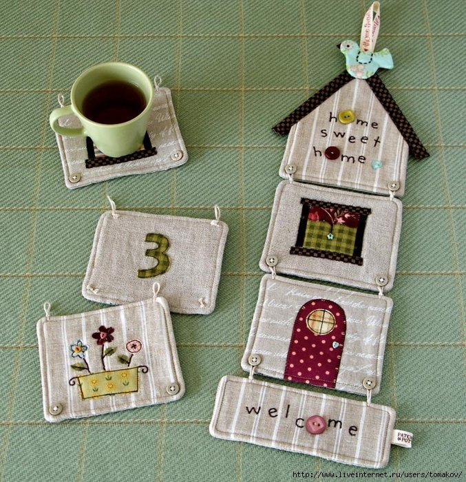 Поделки из ткани для дома