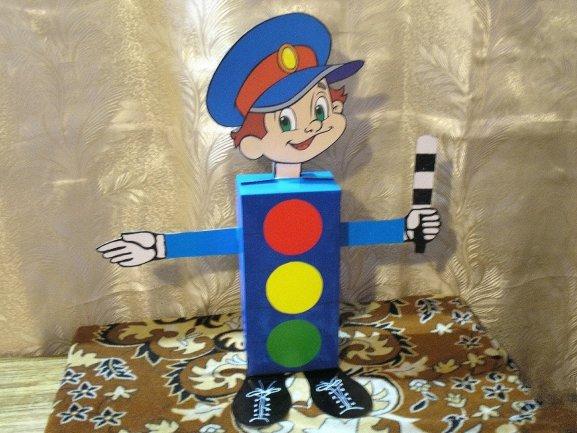 Детские поделки в детский сад светофор 194
