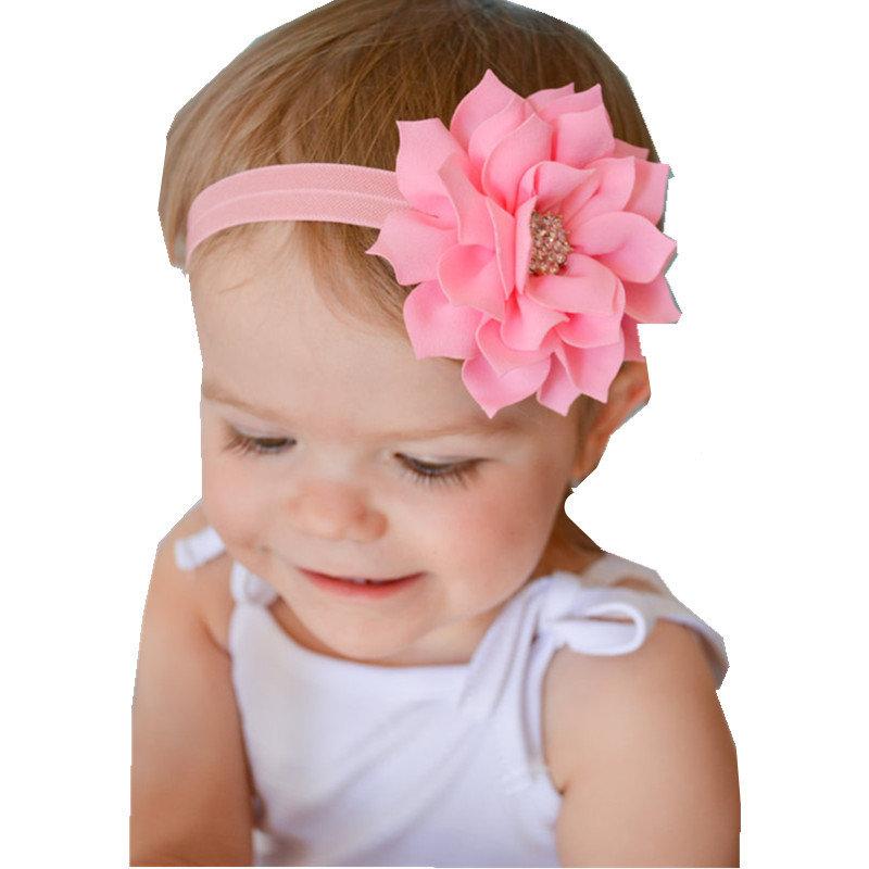 Повязка на голову с цветком для новорожденных своими руками 43