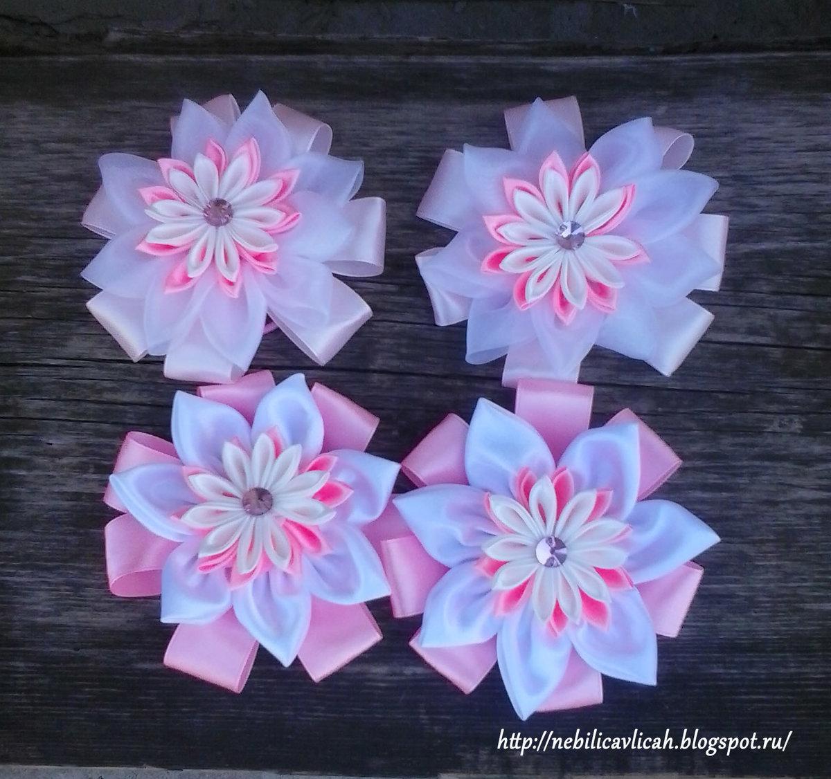 Цветы своими руками из ленты к 1 сентября