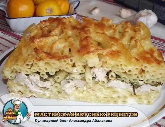 Рецепты с курицей и макаронами пошагово
