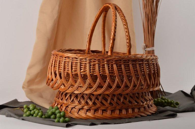 Простая плетеная корзинка своими руками 4