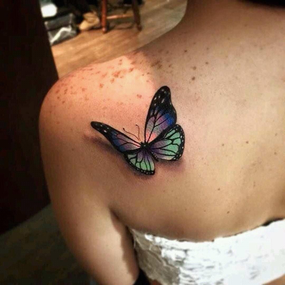 Тату бабочка на левом плече значение