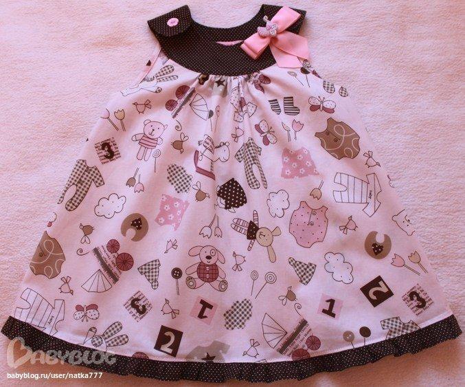 Из чего сшить ребенку платье 315