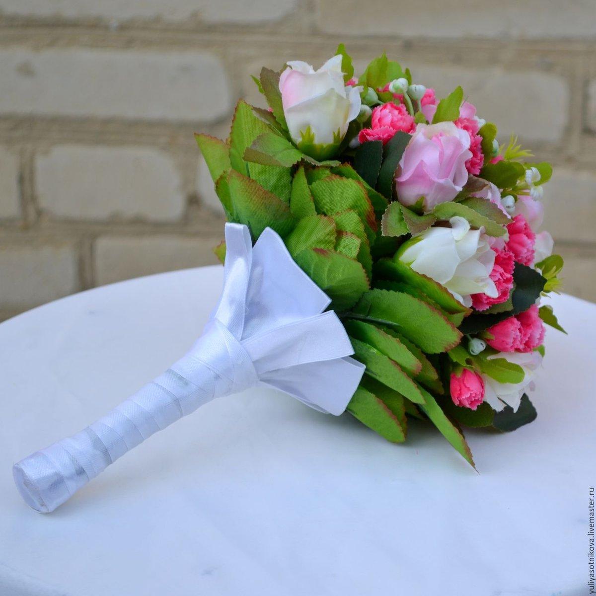 Свадебный букет из искусственных 24