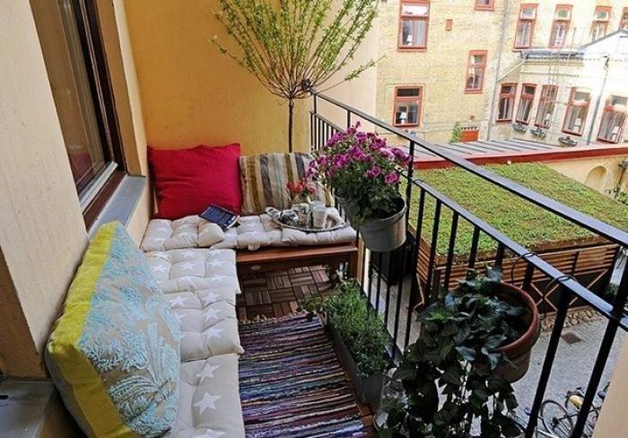 Фото ремонта открытого балкона