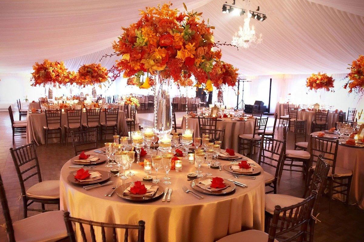 Оформление свадьбы осенью фото
