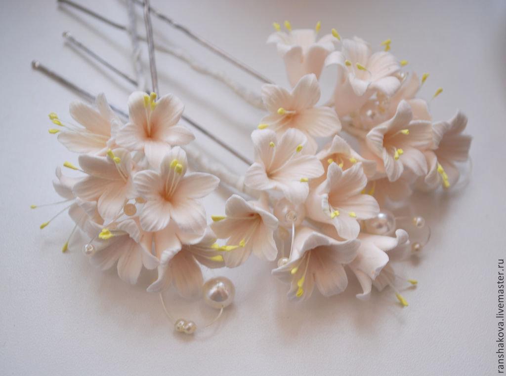 Цветы на шпильку своими руками 59