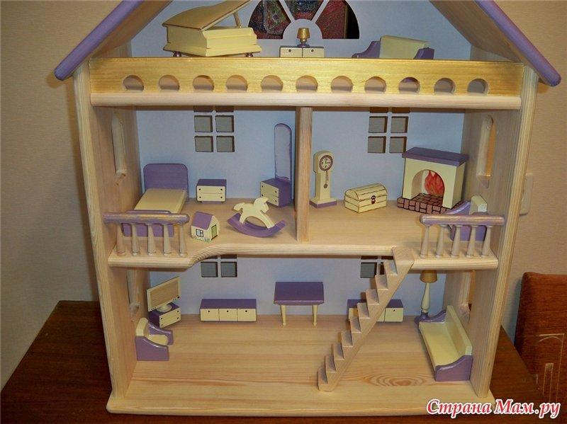 Детский домик для игрушек из дерева своими руками 94