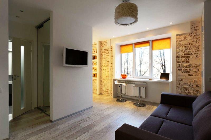 Интерьер однокомнатной квартиры 32 кв.м фото для семьи с ребенком