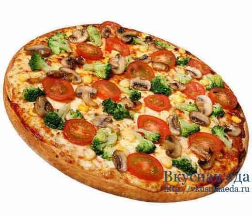 Рецепт быстрой пиццы на противне