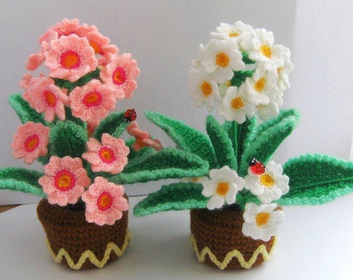 Поделки своими руками вязание крючком цветы