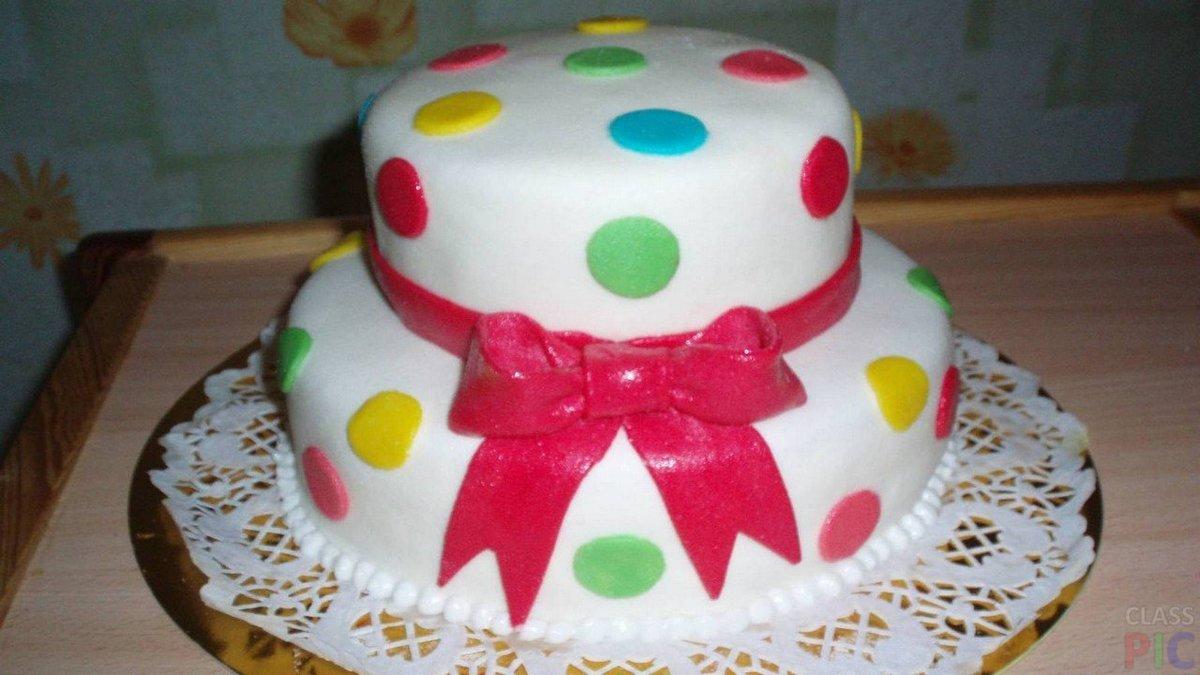 Торт из мастики для девочки своими руками 2