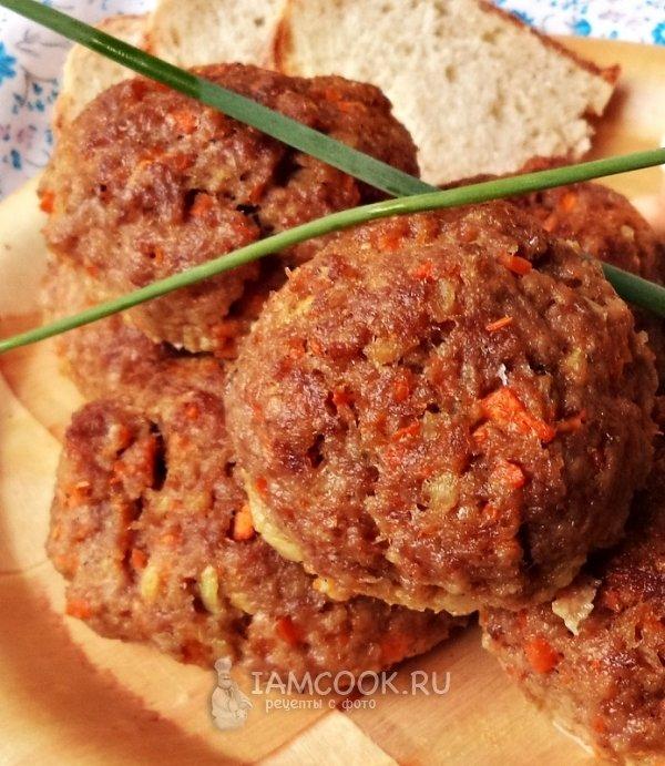 Котлеты мясные с морковью рецепт