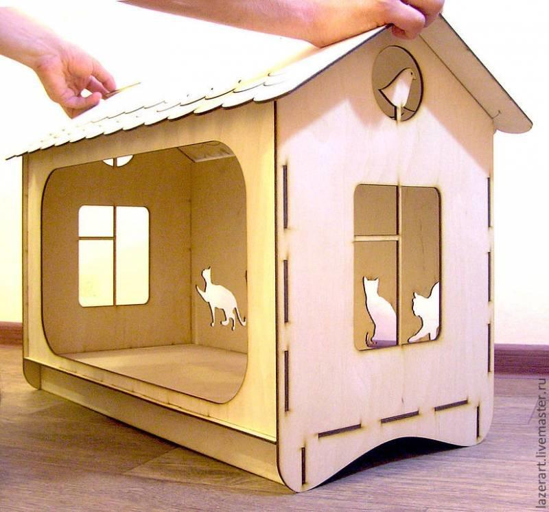 Сделать собачке домик своими руками