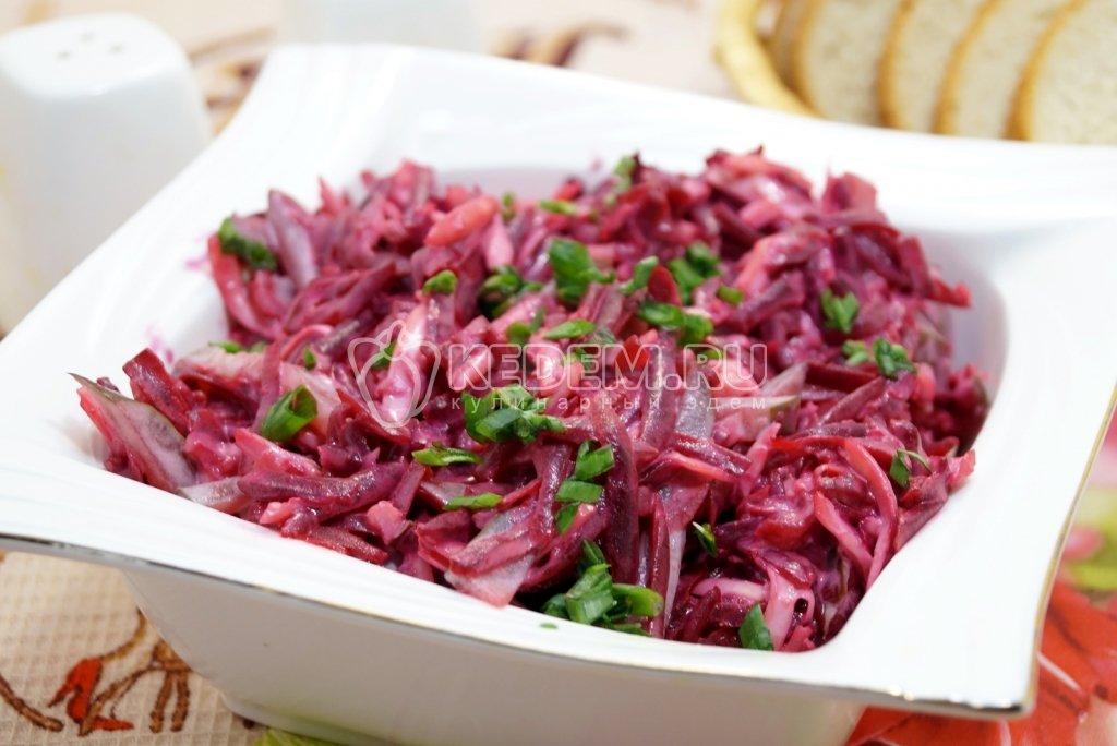 Салат со свеклой и маринованными огурцами рецепт с