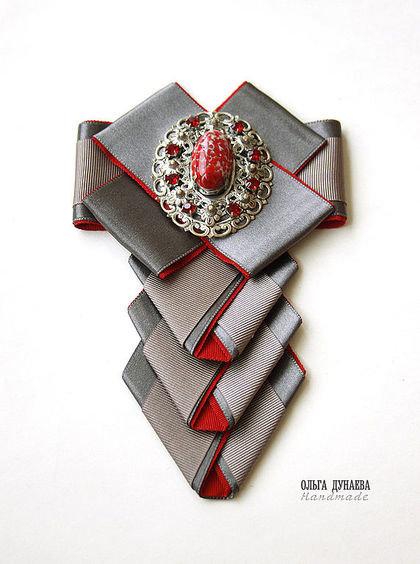 Мастер класс галстук брошь из лент