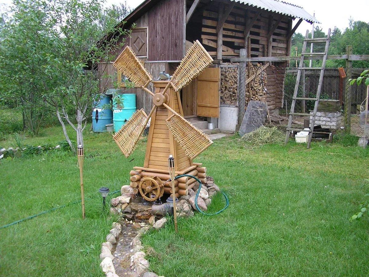 Ветряная мельница для дачи своими руками 34