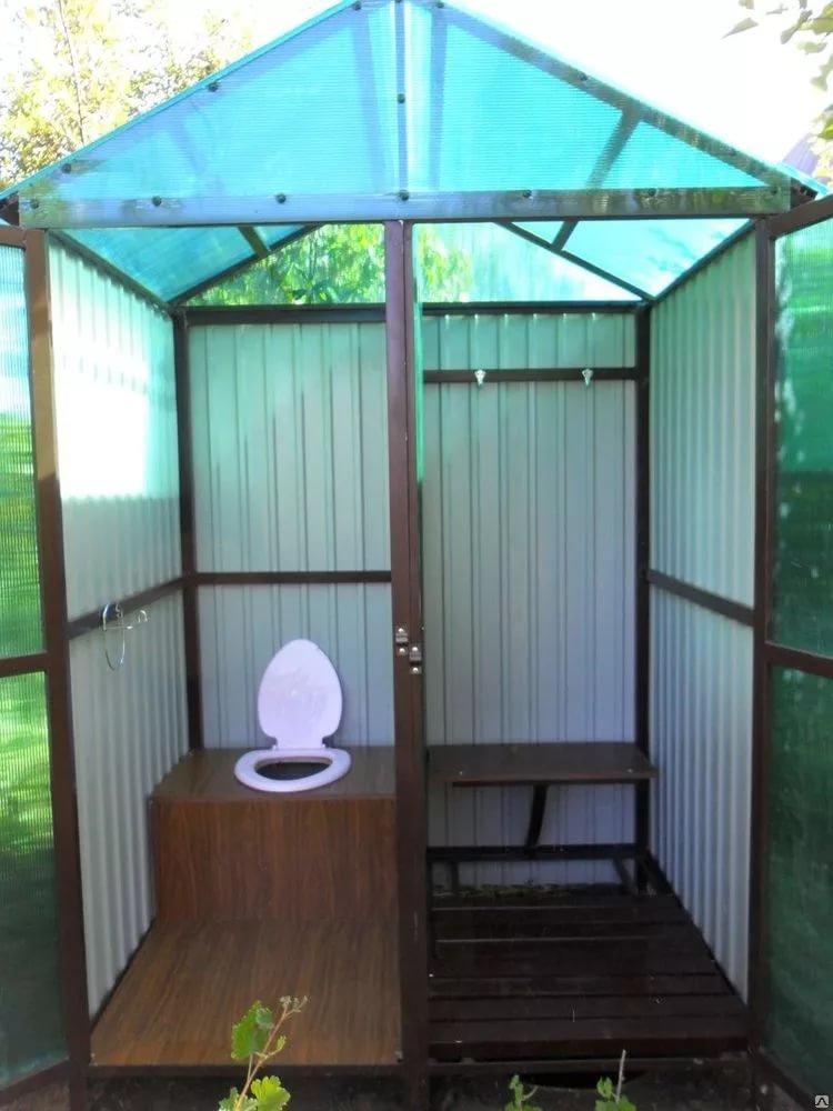Туалет с летним душем на даче своими  156