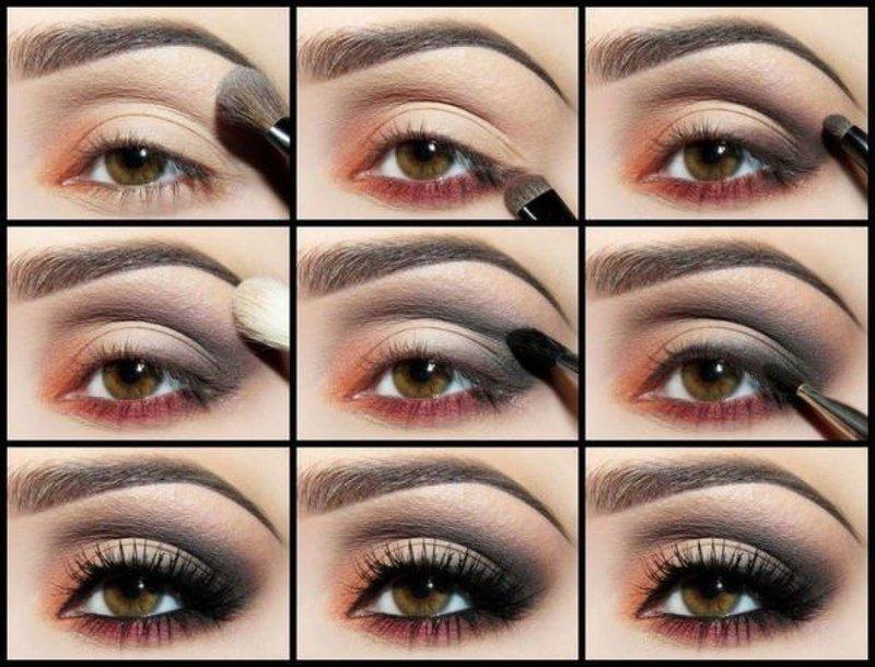 Пошагово как красиво нанести макияж на глаза