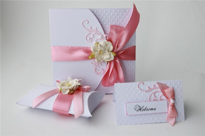Из чего сделать приглашение на свадьбу своими руками 944